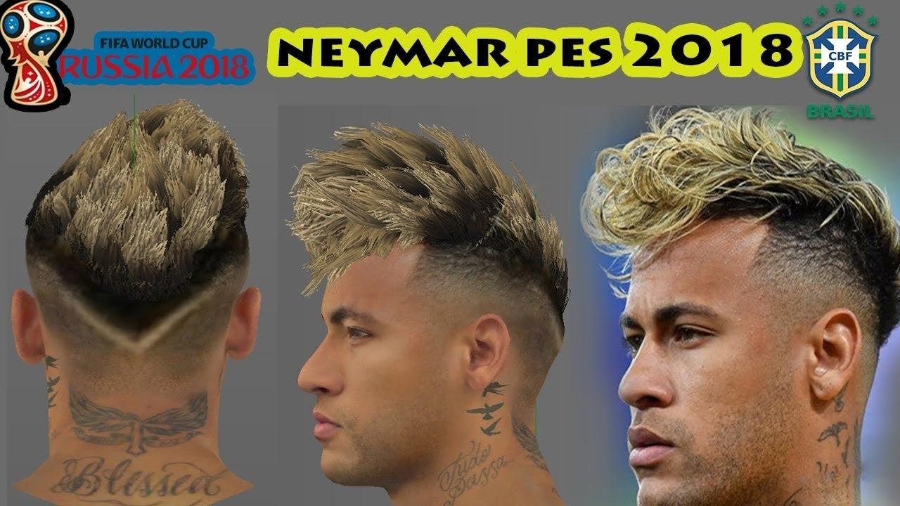 Pes 2018 Neymar New Hair (World Cup Update) - Youtube regarding Neymar Haircut In 2018 World Cup