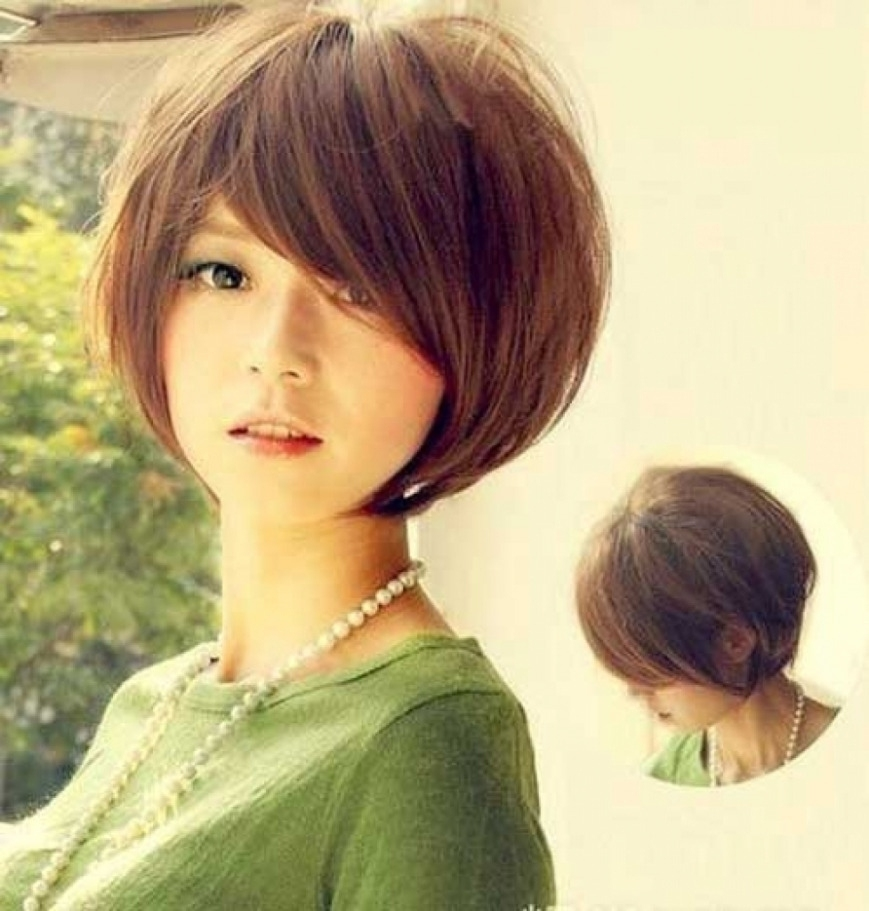 Photo: Korean Cute Short Hair For Round Shape Of Face Cute Asian intended for Short Hairstyle For Round Face Korean