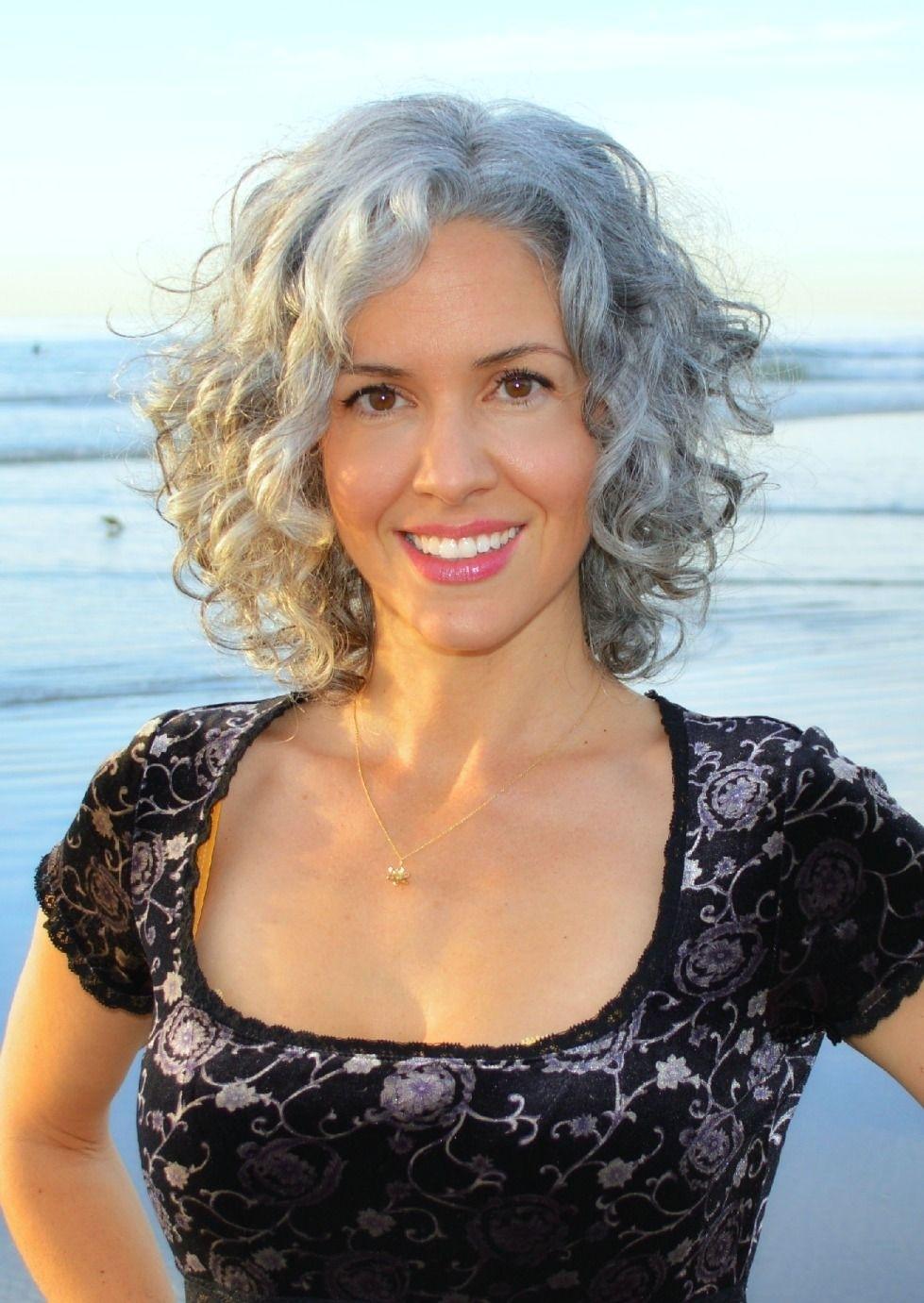 Sara Davis-Eisenman Silver Hair Https://www.facebook/pages/sara intended for Haircuts For Wavy Grey Hair