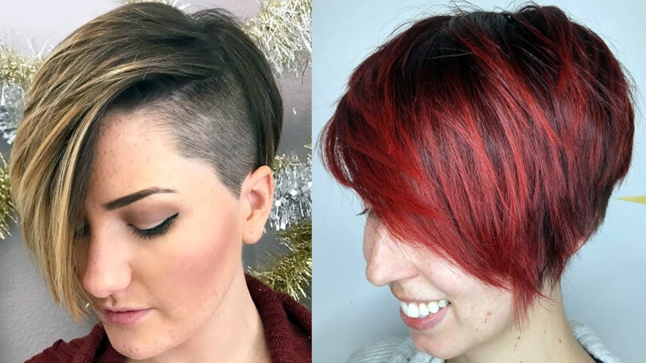 Short Haircuts For 2018 Women - New Short Haircuts 2018 - Youtube throughout Hairstyle 2018 Girl Short Hair