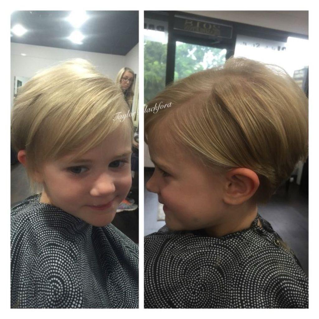 Short Haircuts 2018 Little Girl Wavy Haircut