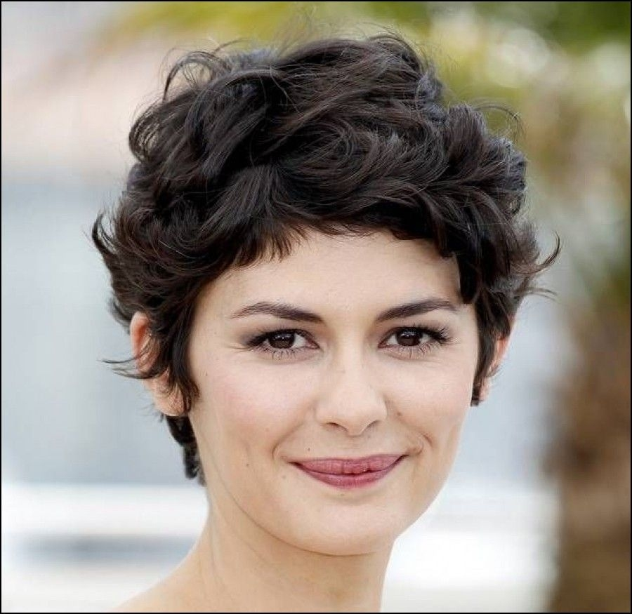 Pixie Haircut For Thick Hair Round Face Wavy Haircut