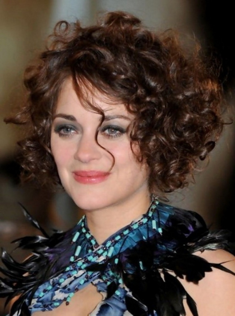 Short Hairstyles For Round Faces Curly Hair Curly Hairstyle For With inside Curly Hairstyle For Round Chubby Face