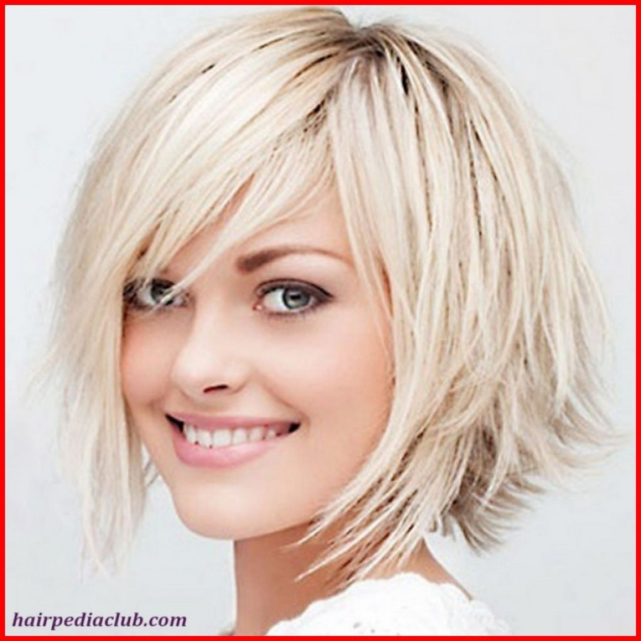 Hairstyle For Thick Hair Round Face Female Wavy Haircut