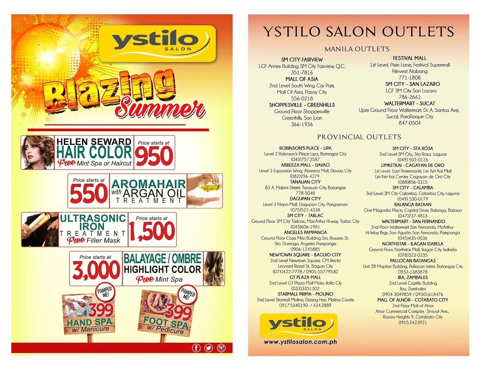 Stay Beautiful This Summer With Ystilo Salon's Blazing Summer Packages throughout Haircut Price At Ystilo Salon