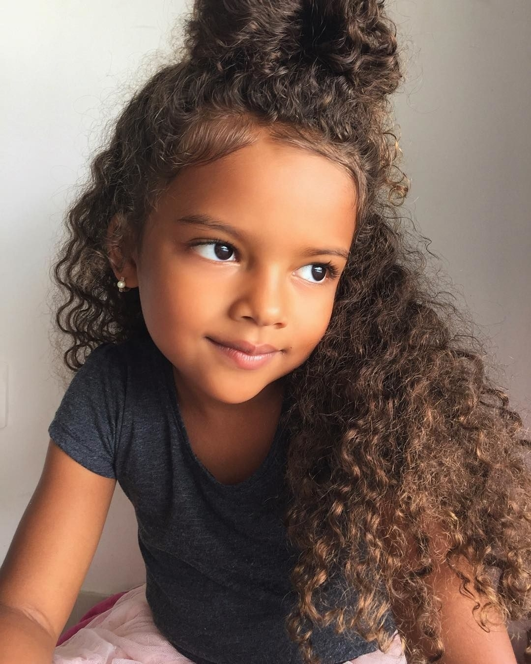 Sweety, So Cute!   Hairspiration   Pinterest   Curly Bun, Curly And within Curly Hair Style Girl Pic