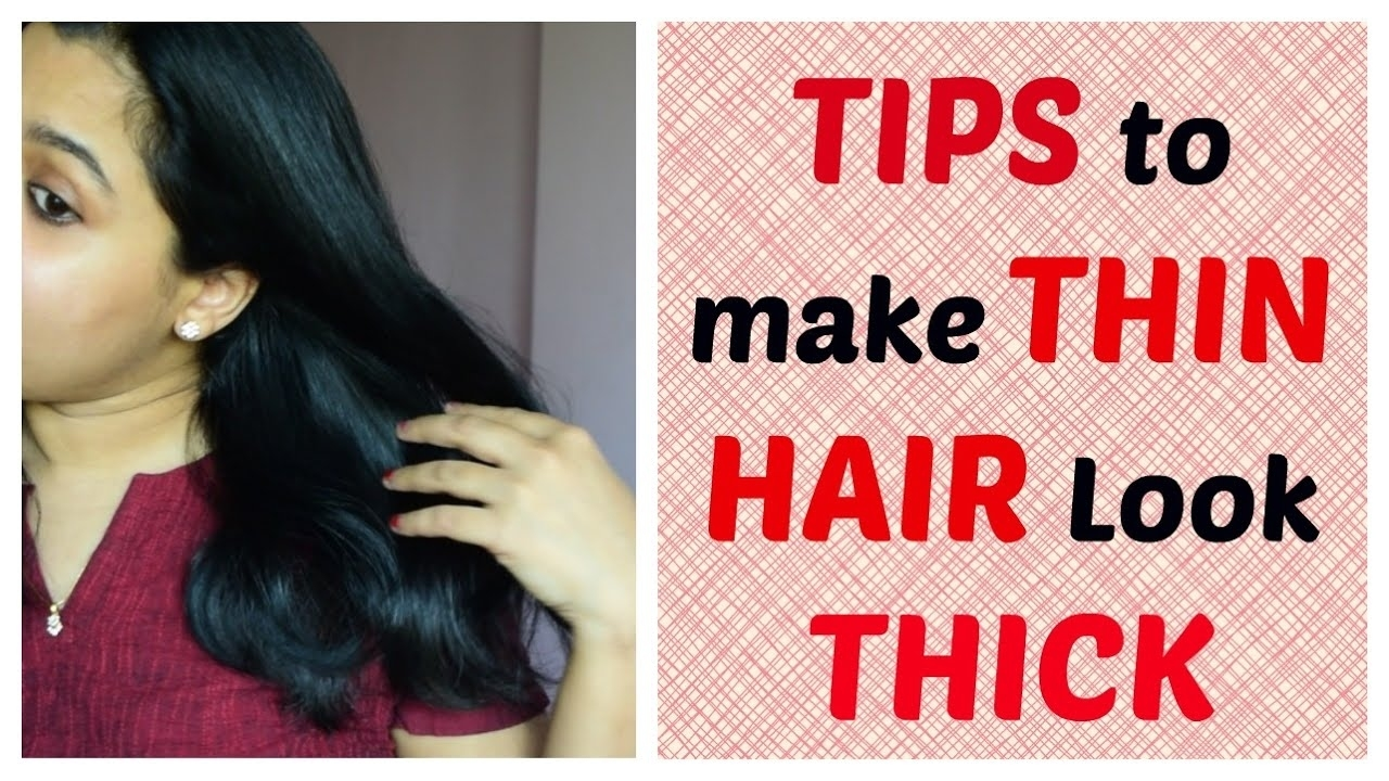 Tips & Tricks To Make Thin Hair Look Thick   Indian Mom - Youtube throughout Haircut For Thin Hair To Look Thicker Indian