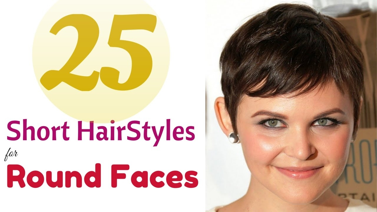 Top 25 Short Hairstyles For Round Faces 2015 - Youtube in Easy Short Haircut For Round Face