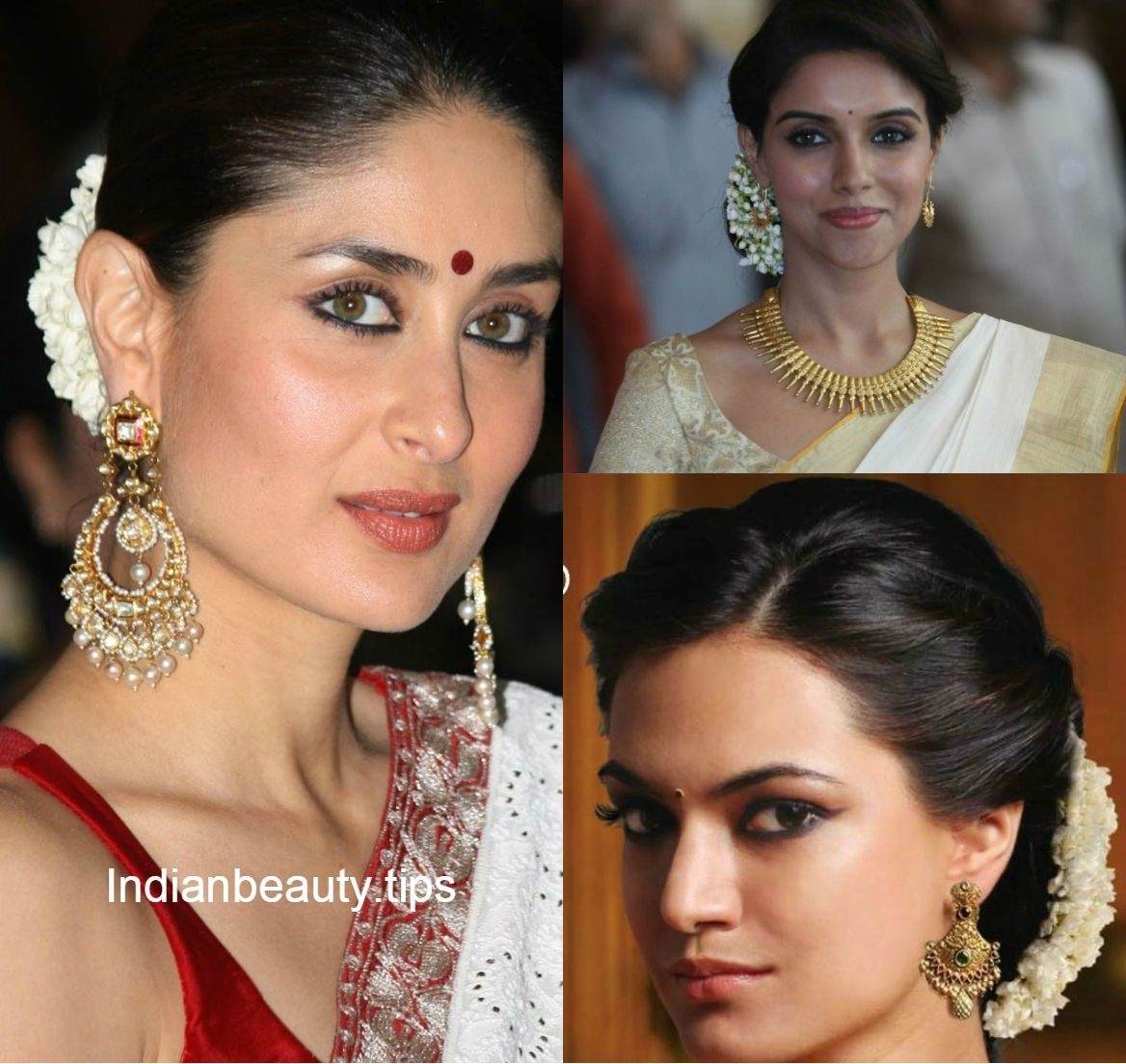 Traditional South Indian Hairstyle - Google Search | Hair & Beauty throughout Hairstyle For Square Face On Saree