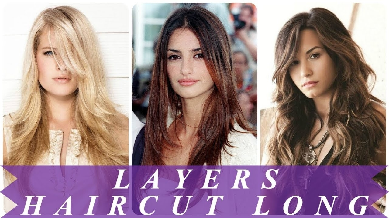 Trendy Haircuts With Layers For Long Hair 2018 For Women - Youtube in Hairstyle 2018 Girl Long Hair