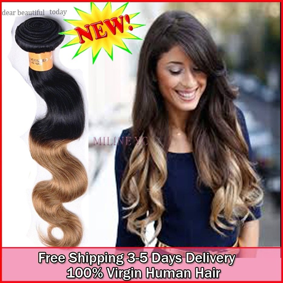 Wholesale Virgin Human Indian Ombre Natural Body Wave Hair Stores with Haircut For Thin Long Hair Indian