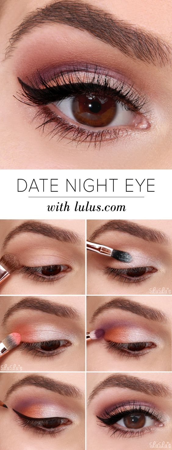 10 Easy Step By Step Makeup Tutorials For Brown Eyes regarding Makeup Ideas For Brown Eyes Step By Step