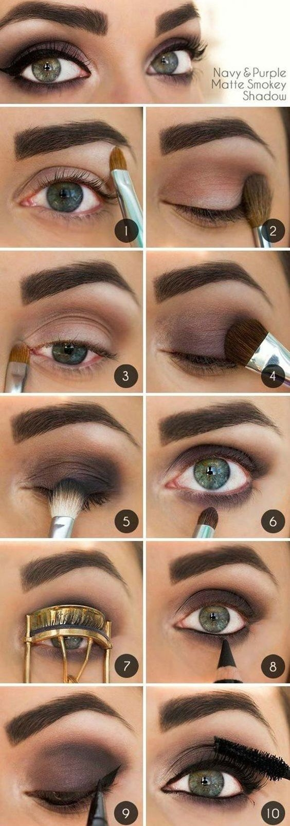 10 Step By Step Makeup Tutorials For Green Eyes - Her Style Code in Eyeshadow For Green Eyes And Dark Hair