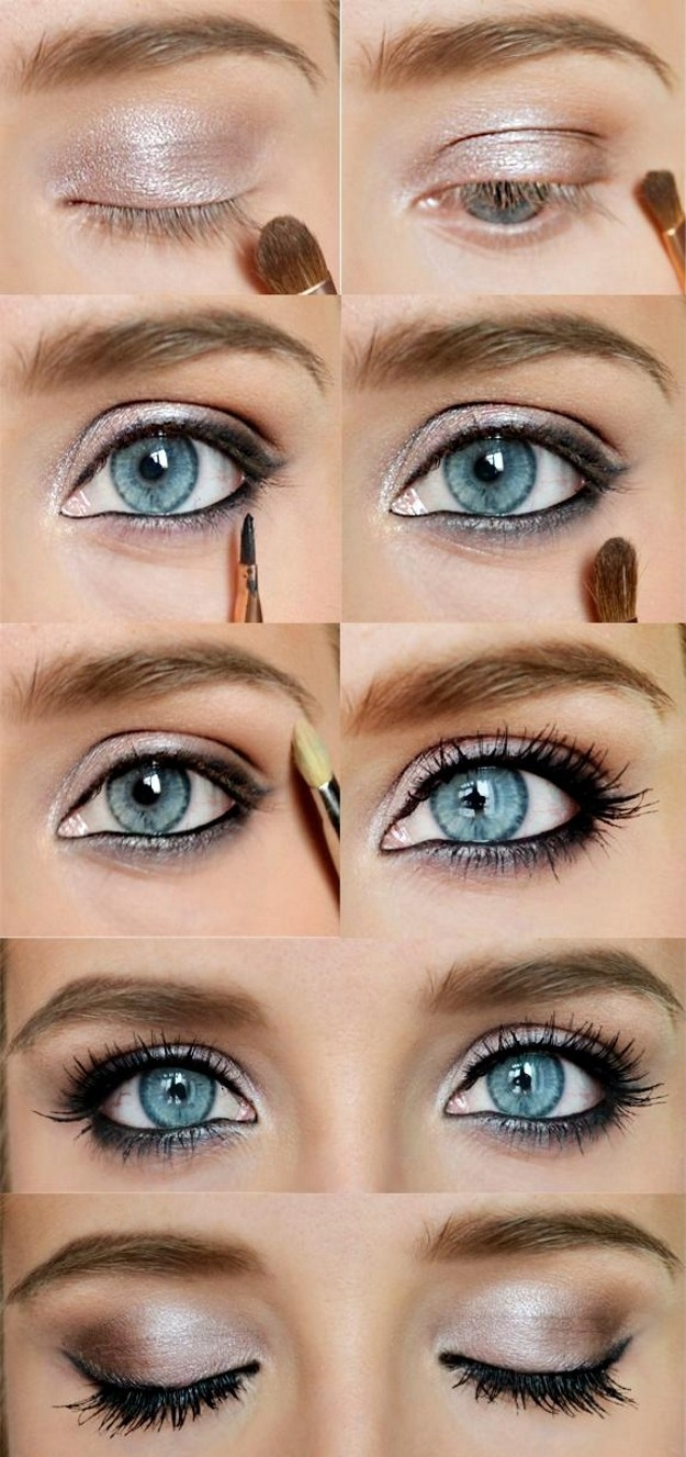 12 Easy Step-By-Step Makeup Tutorials For Blue Eyes - Her Style Code with regard to How To Apply Dramatic Eye Makeup For Blue Eyes