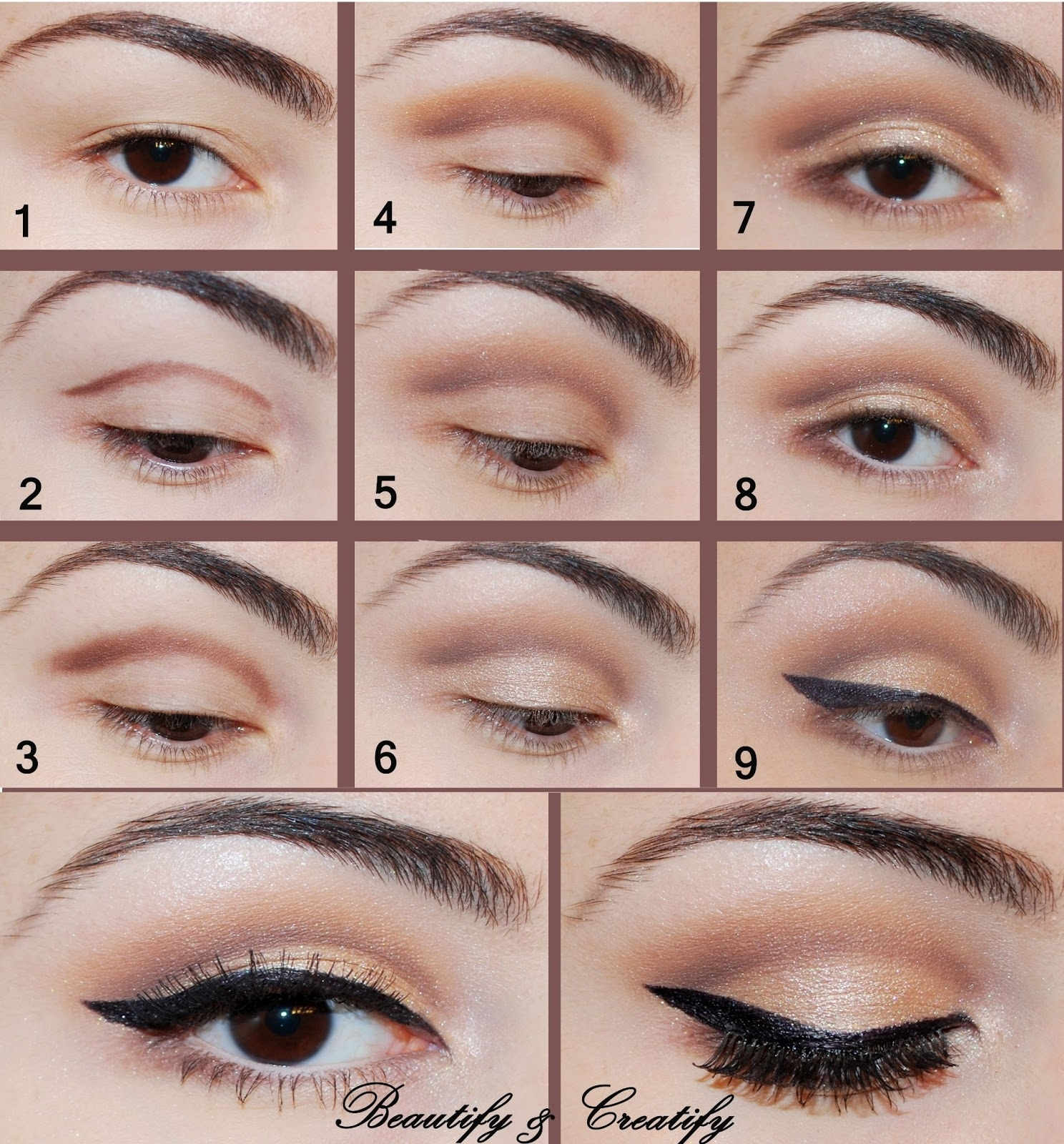32 Easy Step By Step Eyeshadow Tutorials For Beginners | Styles Weekly in Easy Eye Makeup Step By Step With Pictures