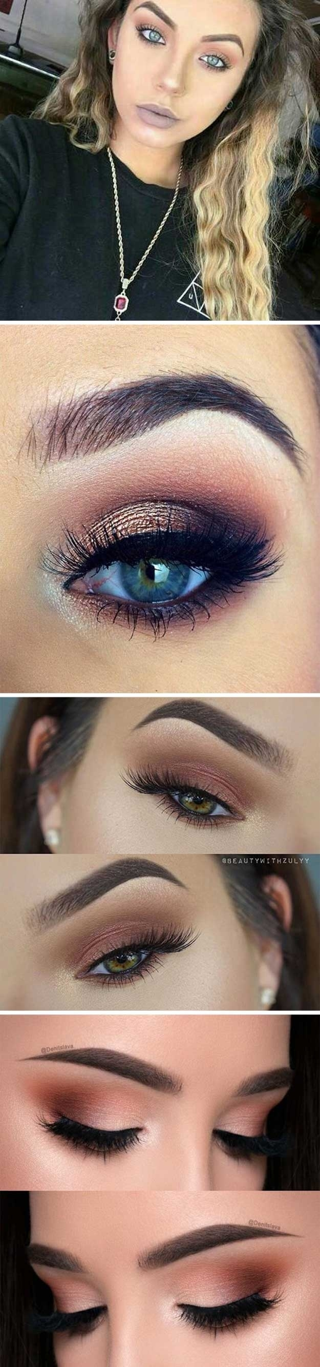 best eyeshadow color for blue eyes and brown hair - wavy haircut