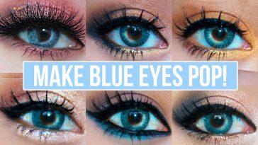 5 Makeup Looks That Make Blue Eyes Pop! | Blue Eyes Makeup Tutorial in Good Makeup Colors For Blue Eyes