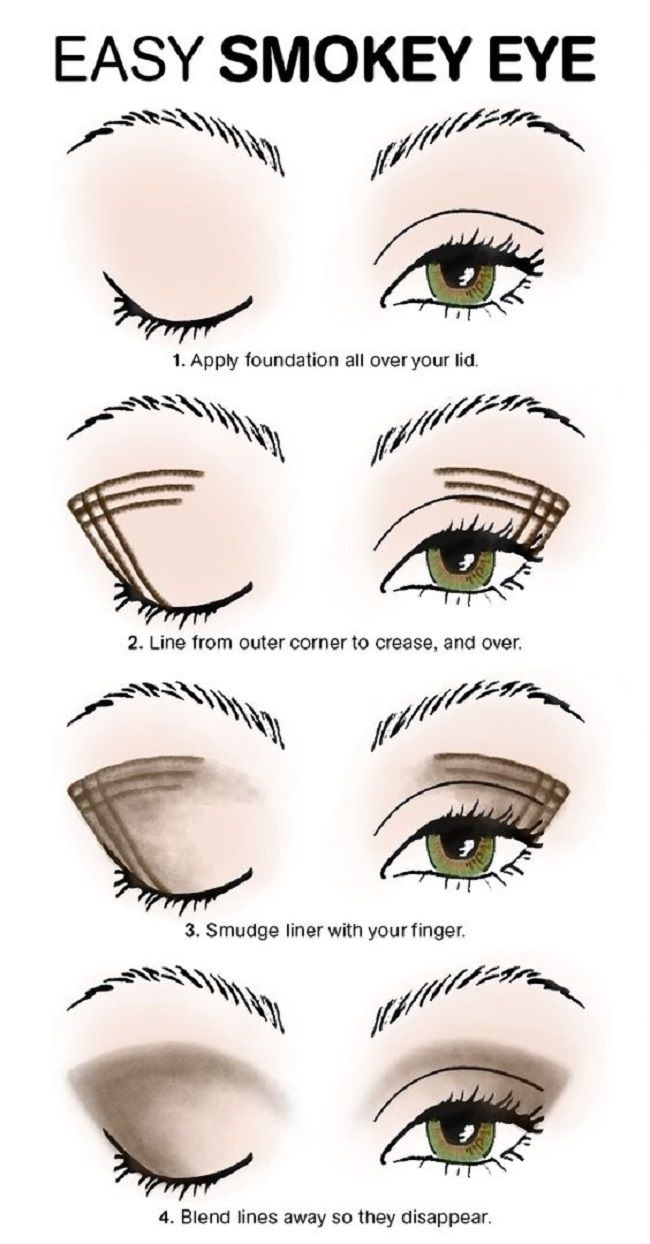 8 Easy Smokey Eye Makeup Tutorials For Beginners | Makeup regarding Easy Smokey Eye Makeup Tutorial