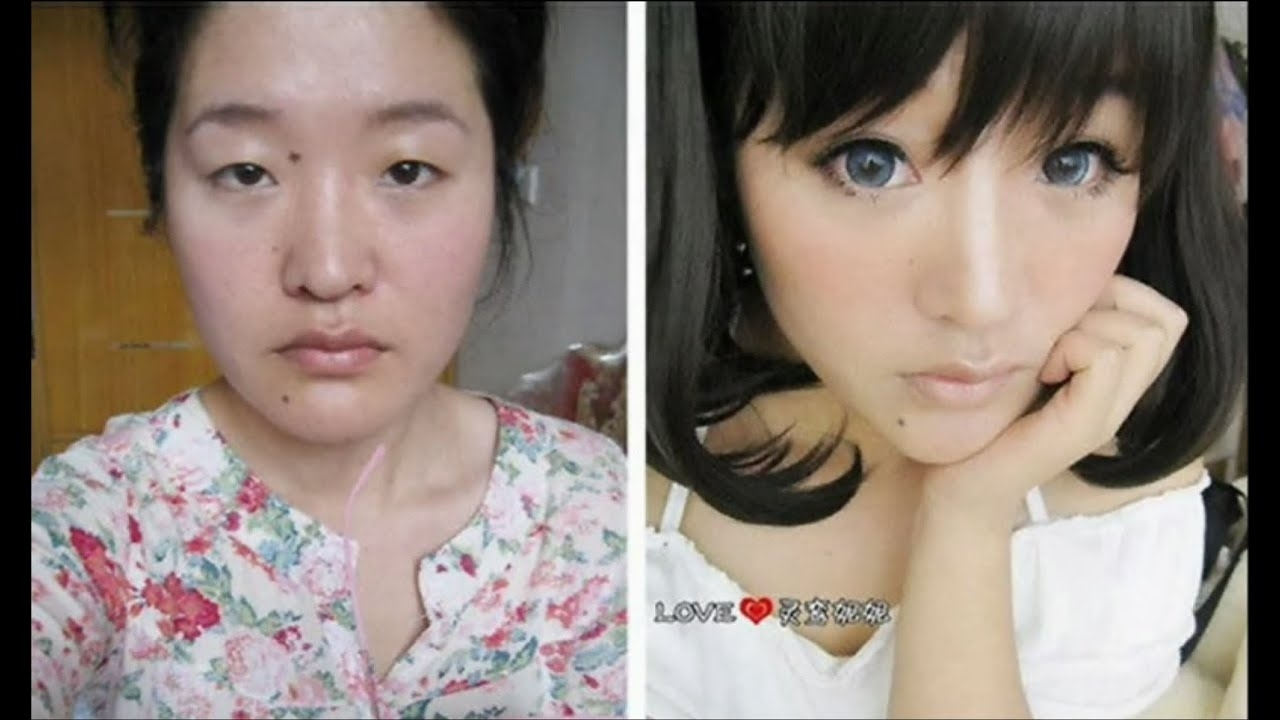 Asian Girls Before And After The Makeup - Youtube intended for Before After Make Up Korea
