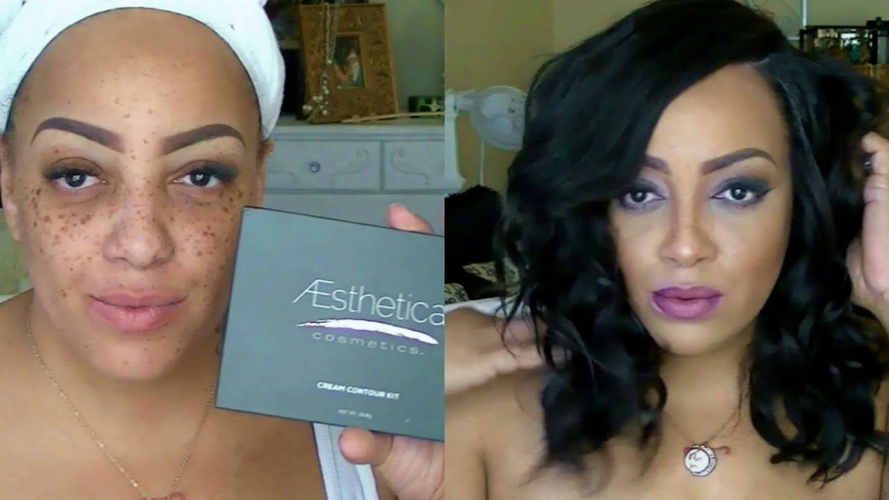 Before & After Contouring With Aesthetica Cosmetics Contour Kit with regard to Contour Makeup Pictures Before And After