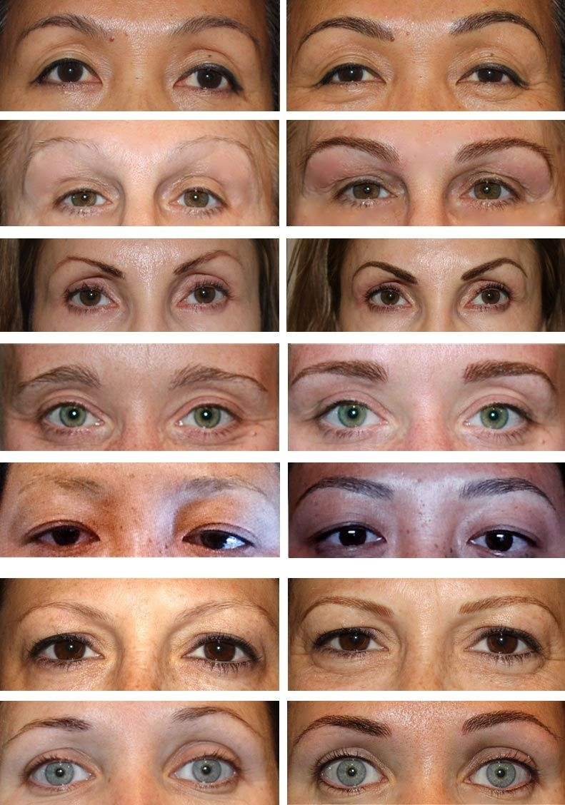 Before & After- Permanent Eyebrows | Permanent Makeup Billings Mt inside Permanent Cosmetics Pictures Before After