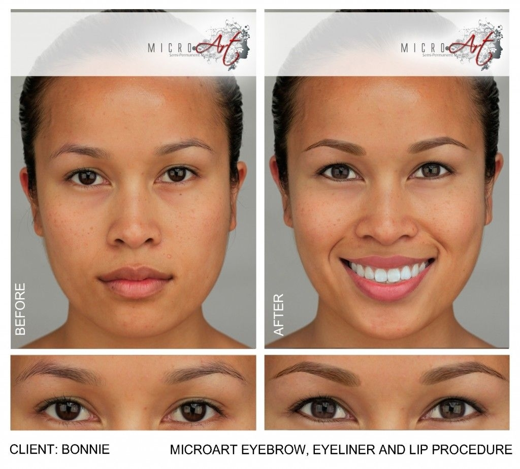 Before & After Photos Of Microart Semi Permanent Makeup For Eyebrows throughout Permanent Makeup Pictures Before And After