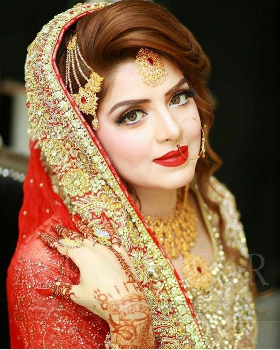 Bride Hair Style And Jewllry | Bridal | Pakistani Bridal, Pakistani with Bridal Makeup Pictures Pakistani
