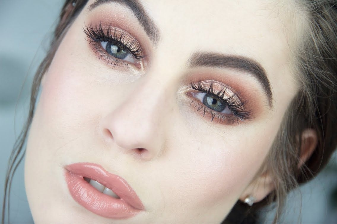 Bronzed Eye & Nude Lip Makeup Tutorial | Fair Skin - Youtube for Makeup Tips For Blue Eyes And Fair Skin