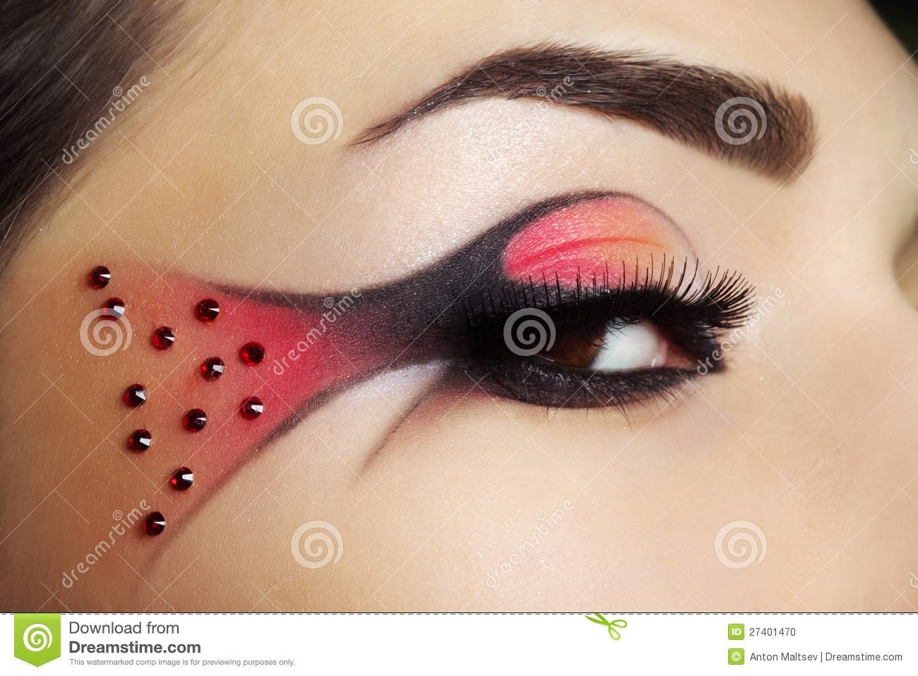 Creative Eye Make-Up Stock Photo. Image Of Eyebrow, Shadows - 27401470 in Download Eye Makeup Images