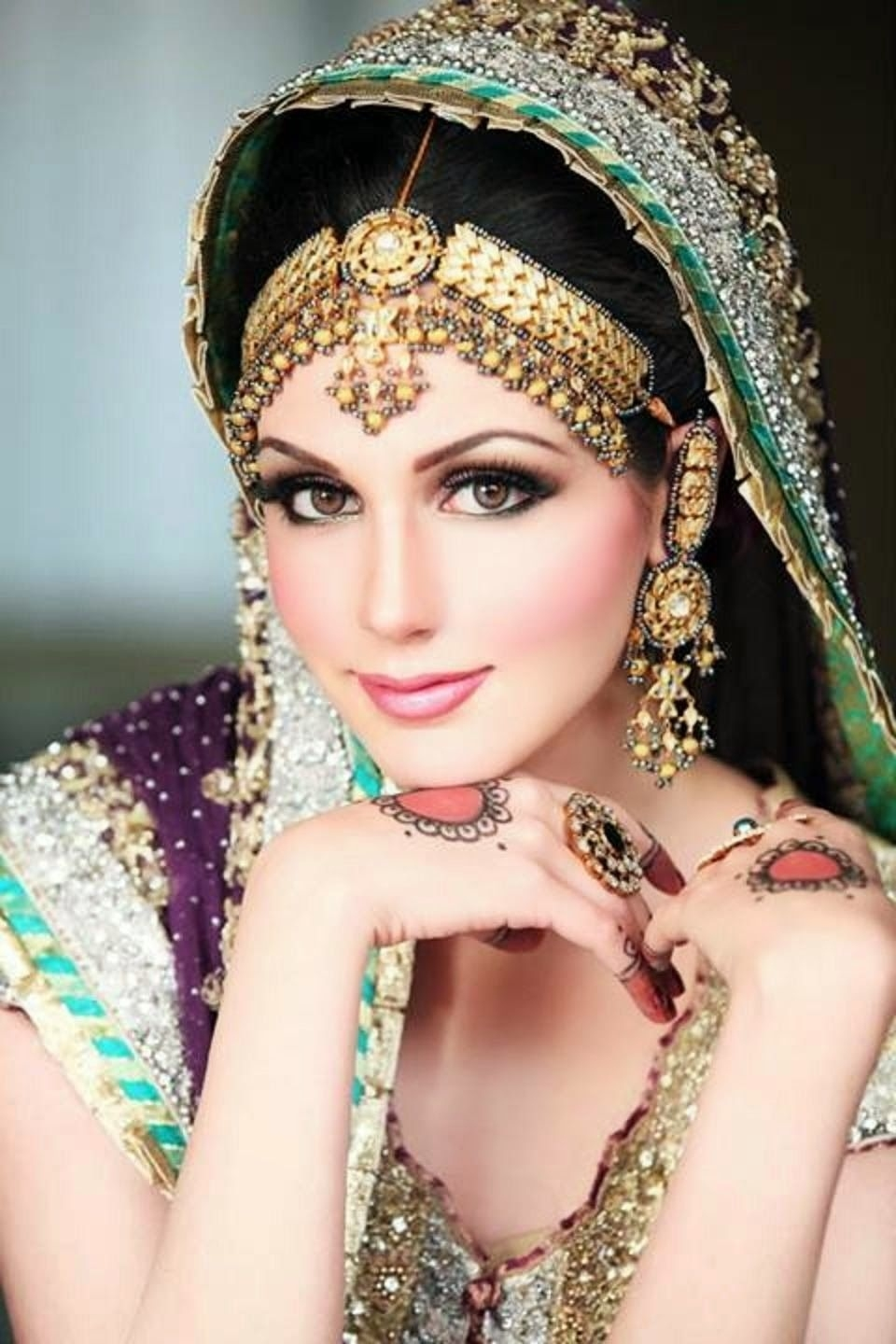 Dulhan Makeup Ideas 2014 For Girls Hd Wallpapers Free Download with regard to Pakistani Bridal Makeup Pictures 2014