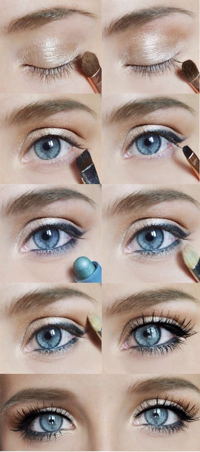 Easy And Simple Eye Makeup Tutorial In 2019 | Makeup&hair | Makeup throughout Makeup Tutorials For Blue Eyes Natural