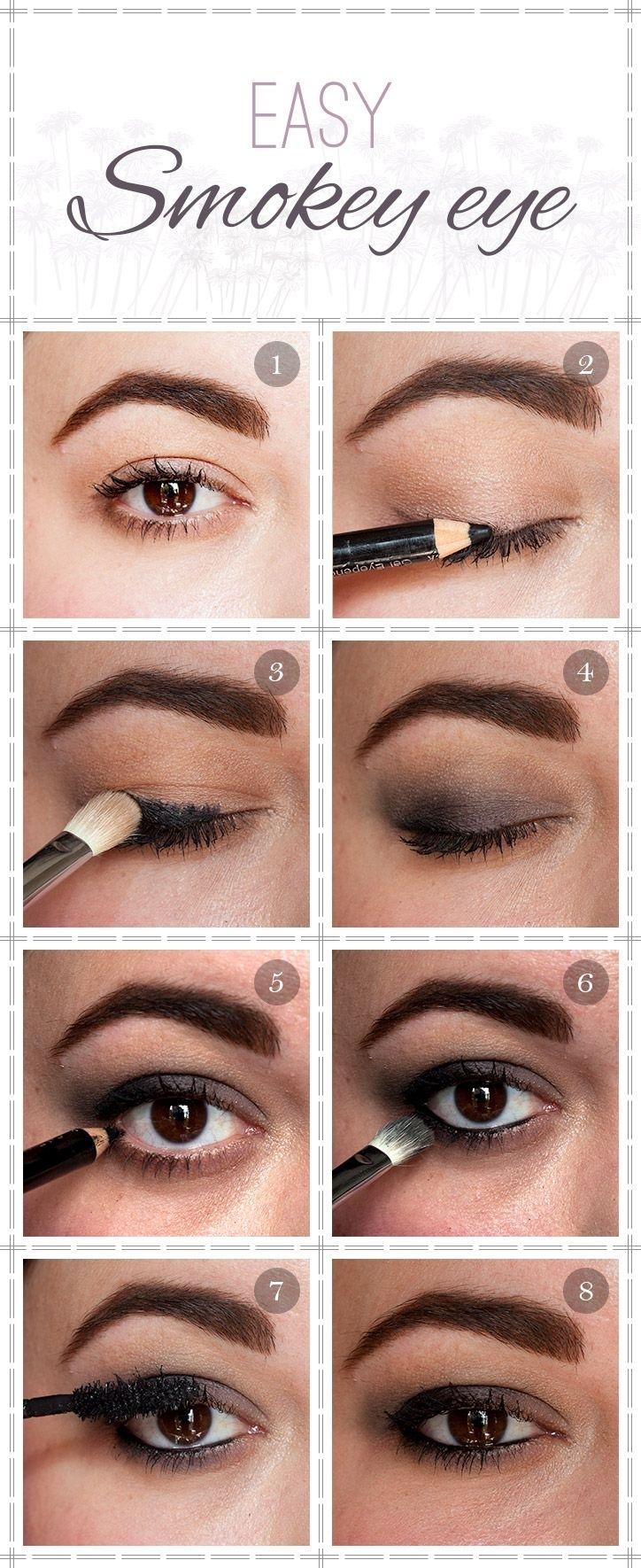 Easy Smokey Eye Tutorial | Beauty Tips | Pinterest | Maquillaje throughout Easy Smokey Eye Makeup Tutorial