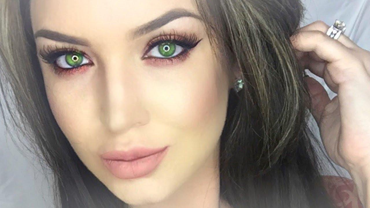 makeup tutorial for green eyes and brown hair - wavy haircut