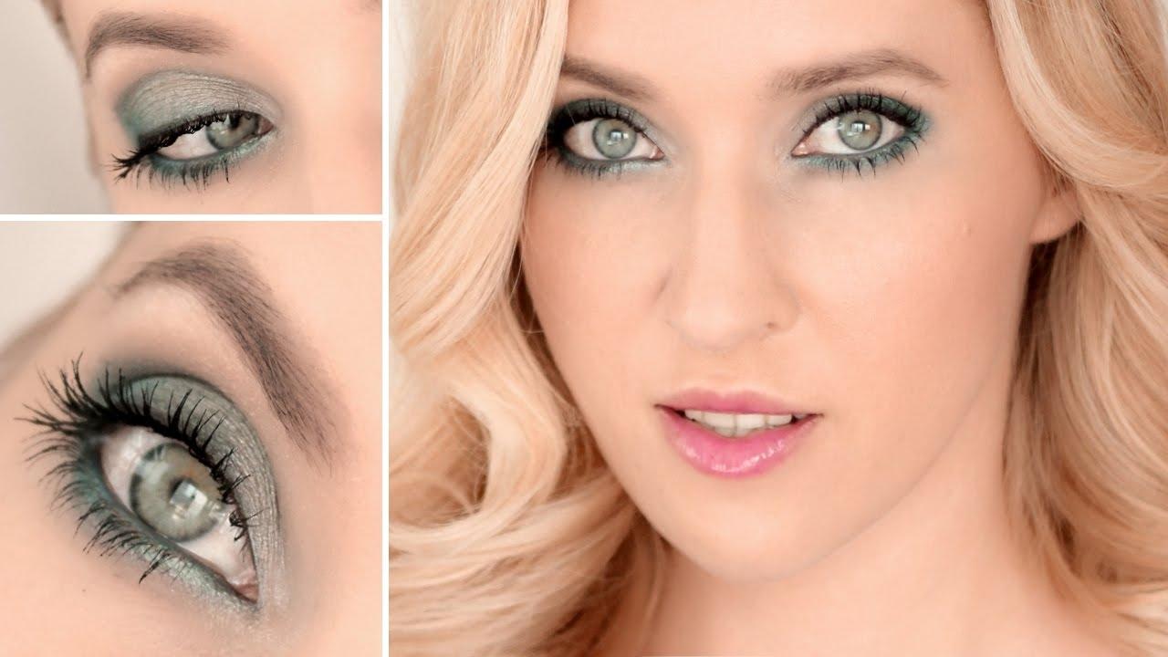 makeup tips for grey green eyes - wavy haircut