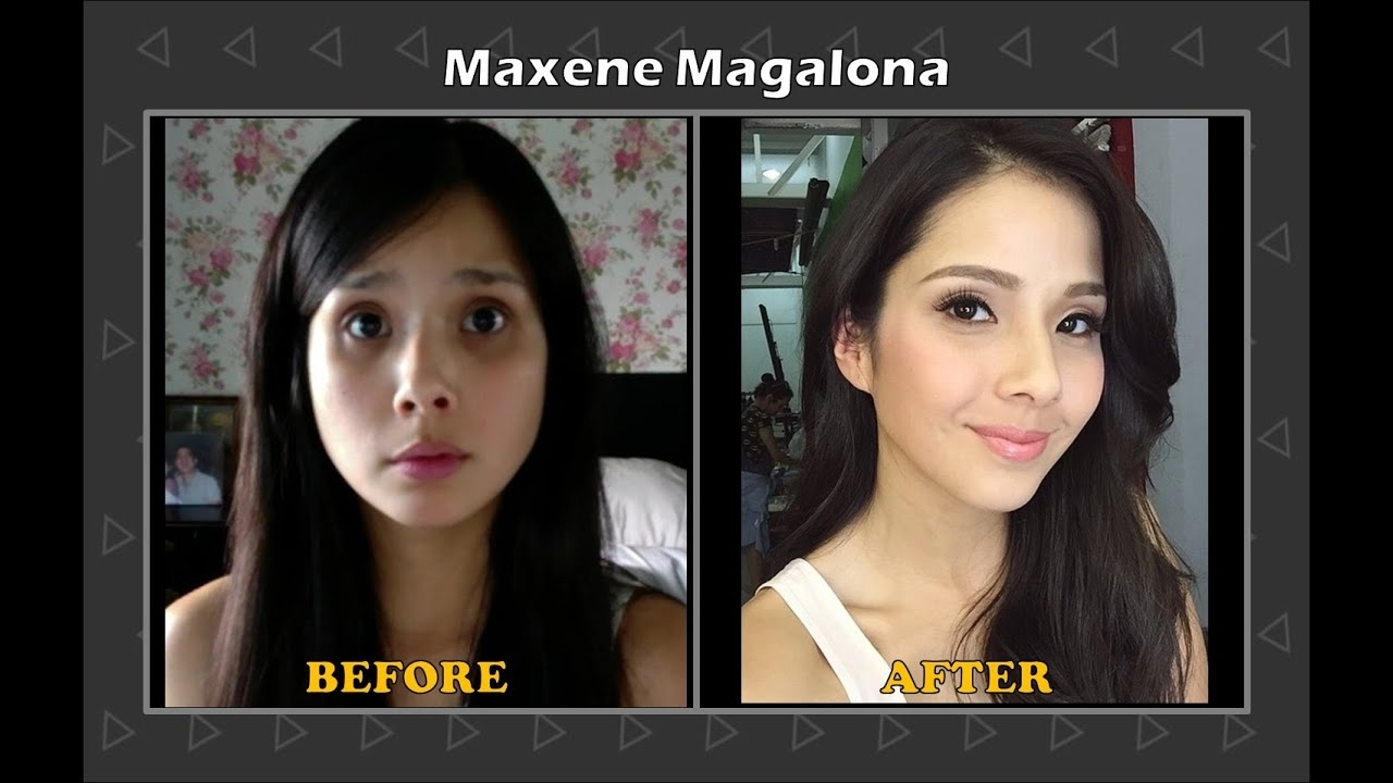 pinay celebrities before and after makeup – wavy haircut