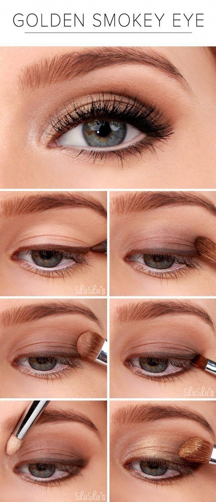 "Golden Smokey Eyes "" 10 Eye Makeup Ideas (9) "" #smokeyeyemakeup within Smokey Eye Makeup Ideas Pinterest"