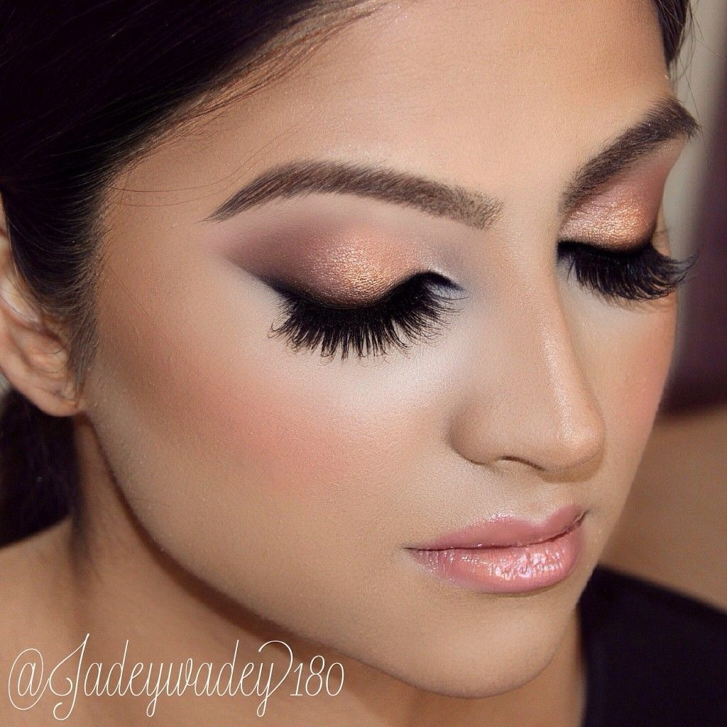 Indian Bridal Makeup: Double Winged Liner, Copper Smokey Glitter with Indian Wedding Eye Makeup Pictures
