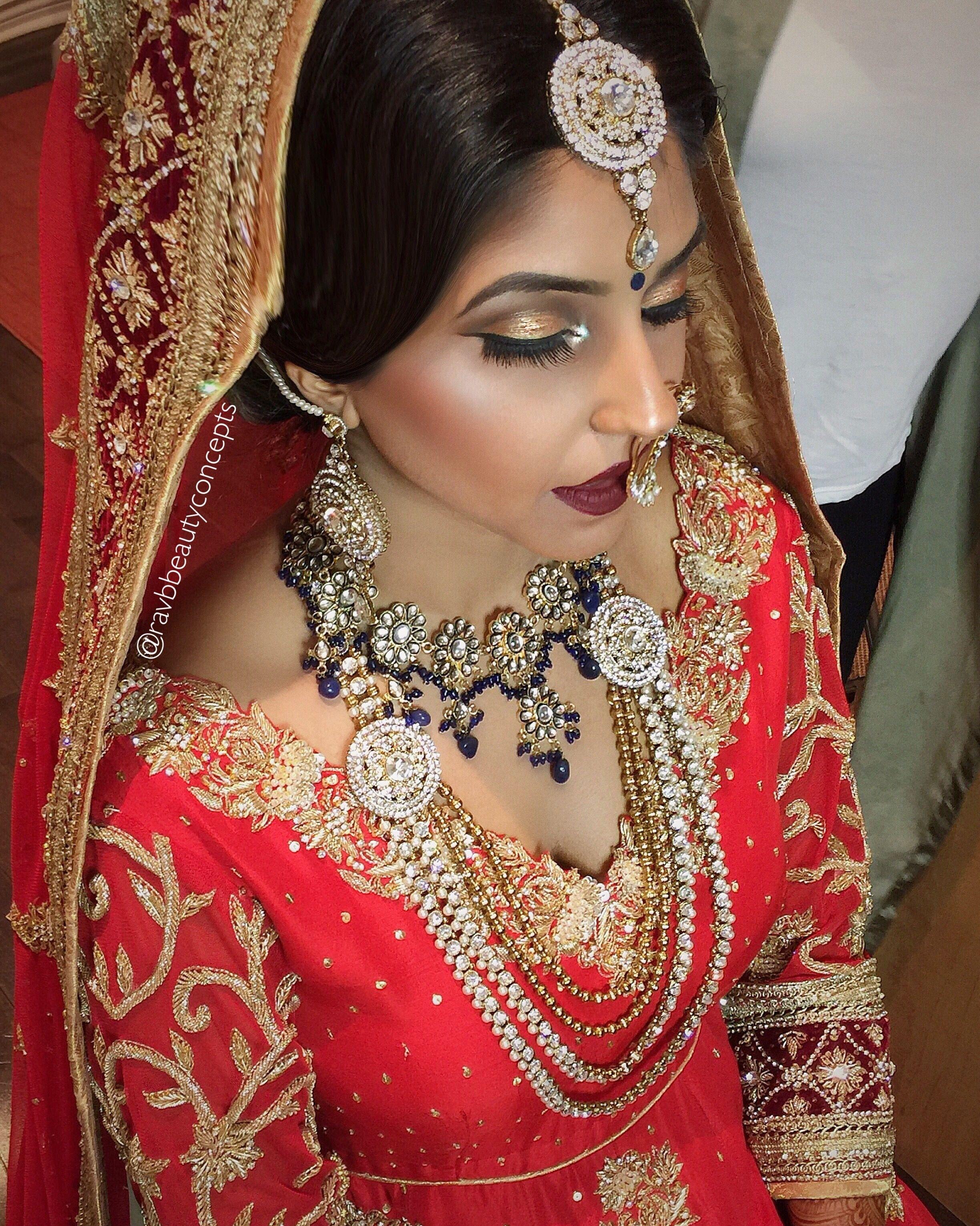 Indian Bridal Makeup, Indian Bridal Hair, Bridal Makeup, Bridal Hair pertaining to Punjabi Bridal Makeup Images