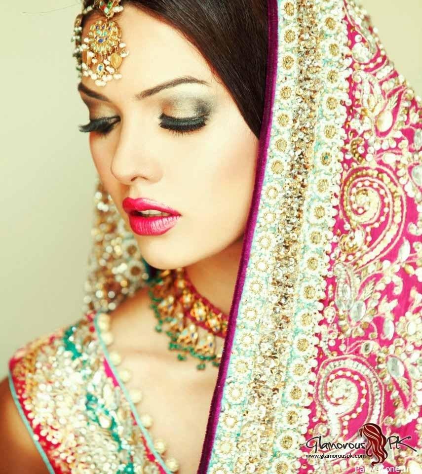 Indian Bridal Makeup- Pink, Green & Gold! | Soma's Indian Weddings for Bridal Makeup Pic 2013
