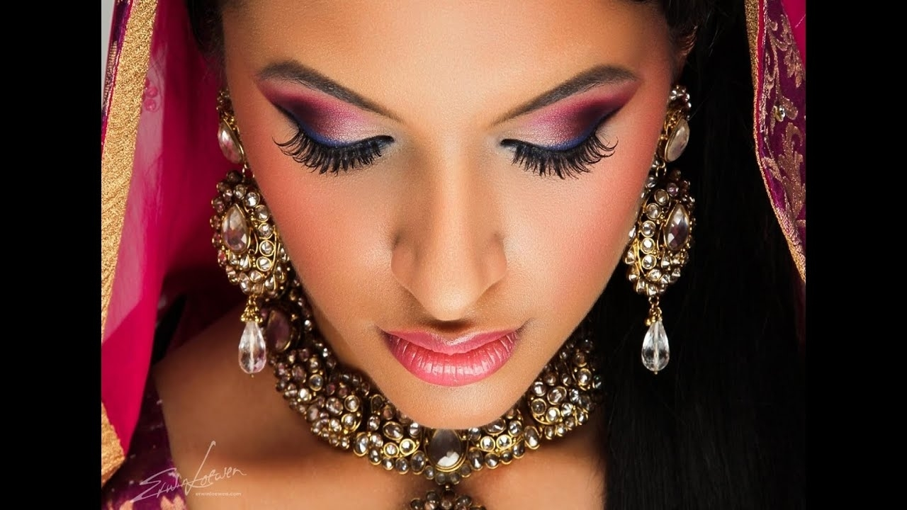 Indian Bridal Wedding Makeup Look Bollywood Makeup Gold Red Golden within Indian Wedding Eye Makeup Pictures