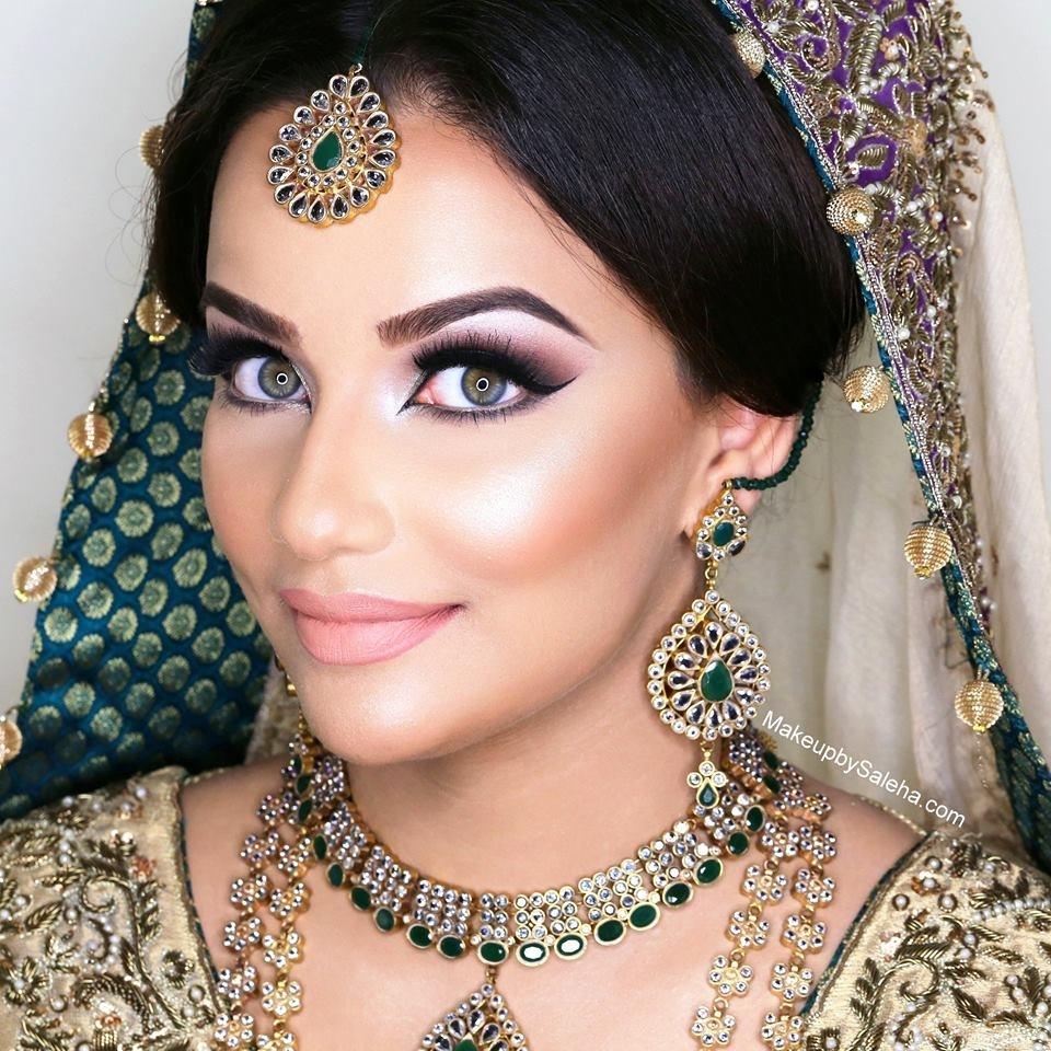 indian bridal makeup styles - wavy haircut