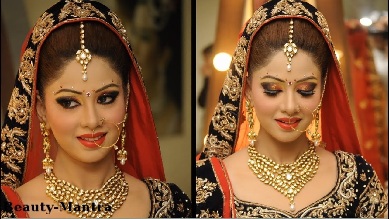 Indian Wedding Makeup For A Beautiful Bride - Youtube within Indian Bride Makeup Pics