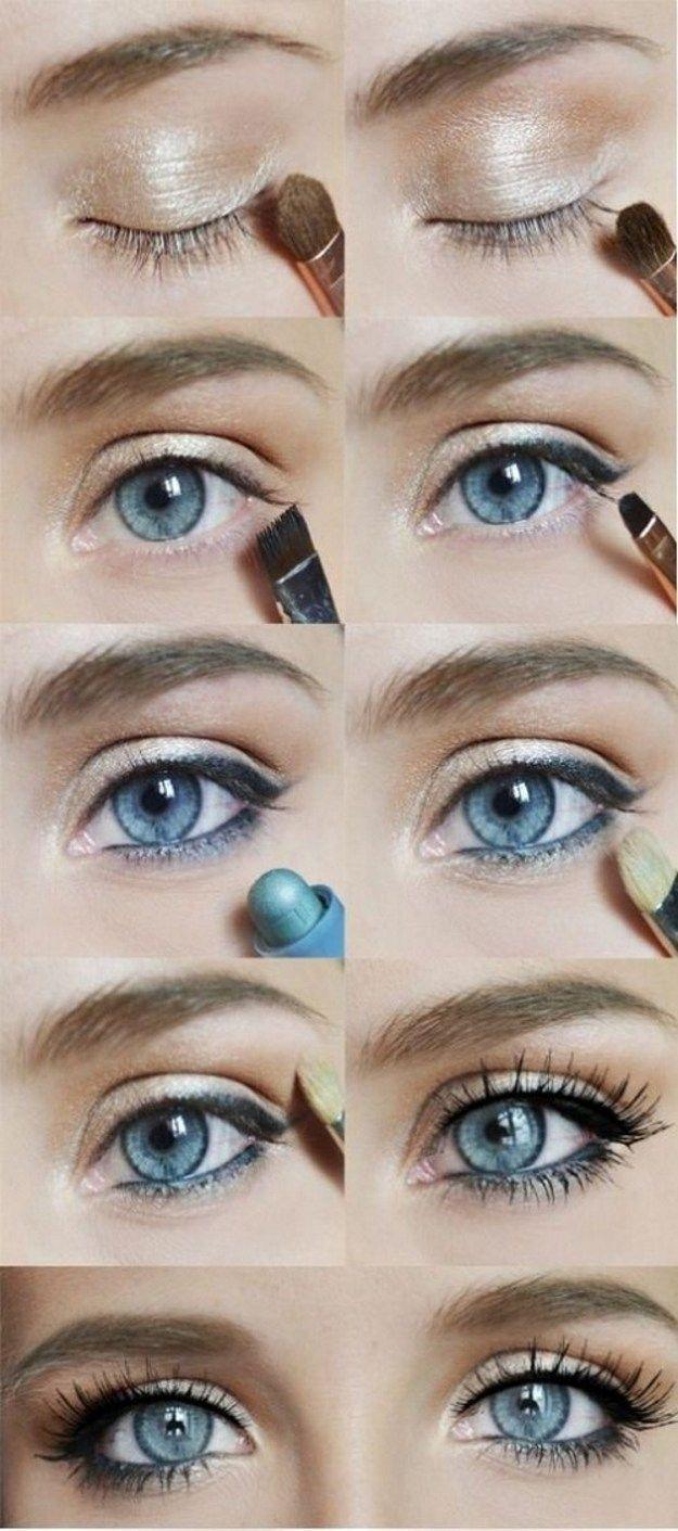 Lovely Makeup Tutorials For Blue Eyes   Makeup   Pinterest   Makeup intended for Cute Makeup Styles For Hazel Eyes