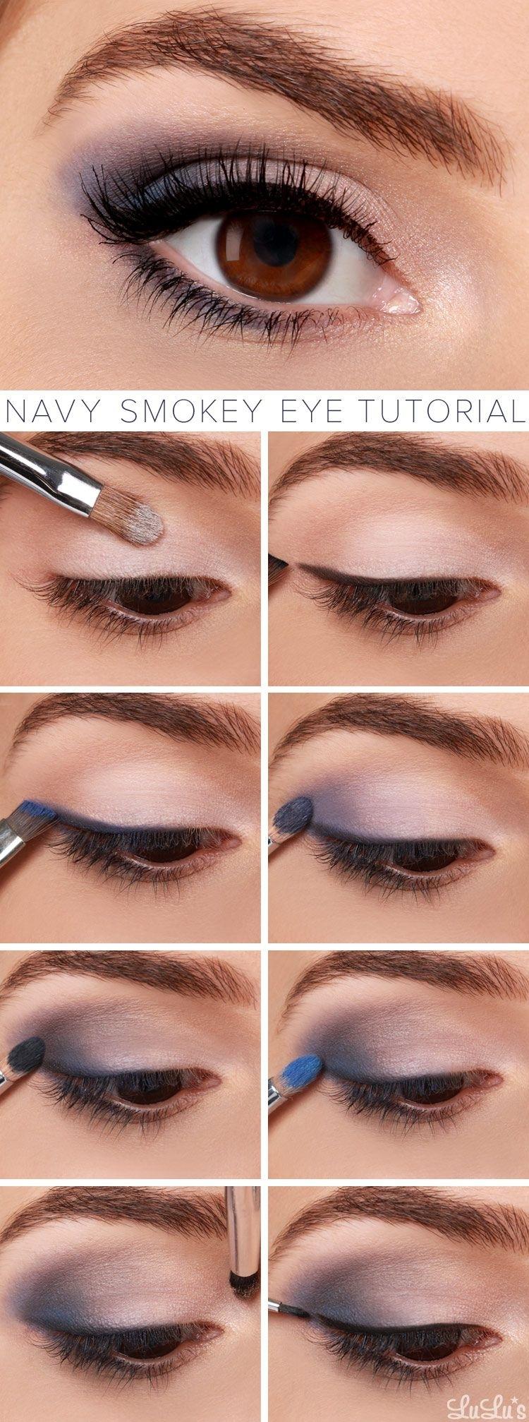 Lulus How-To: Navy Smokey Eye Makeup Tutorial | Makeup Ideas intended for Smokey Eye Makeup Ideas Pinterest