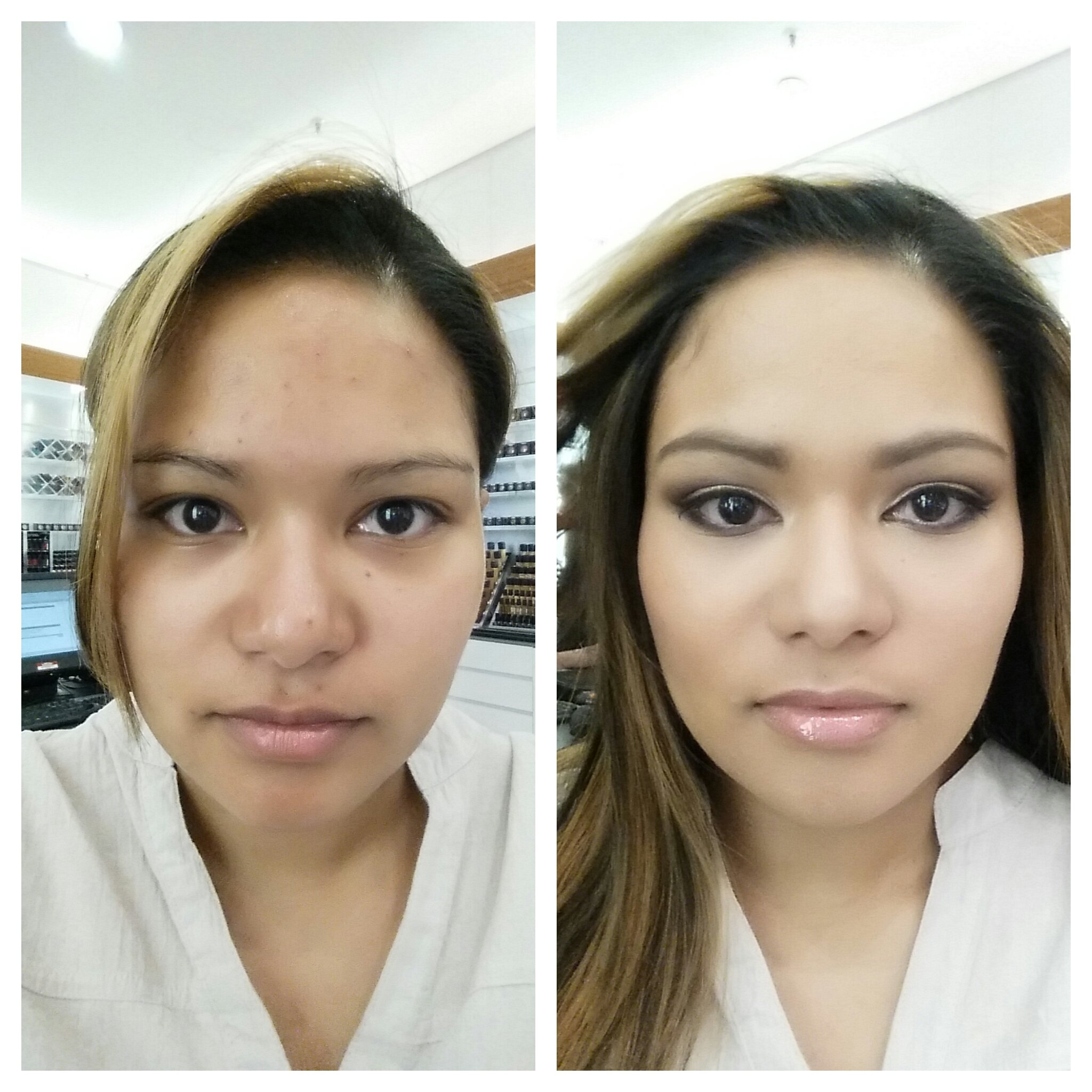Mac Me Up | Belle Blushh with Mac Makeup Before And After Pictures