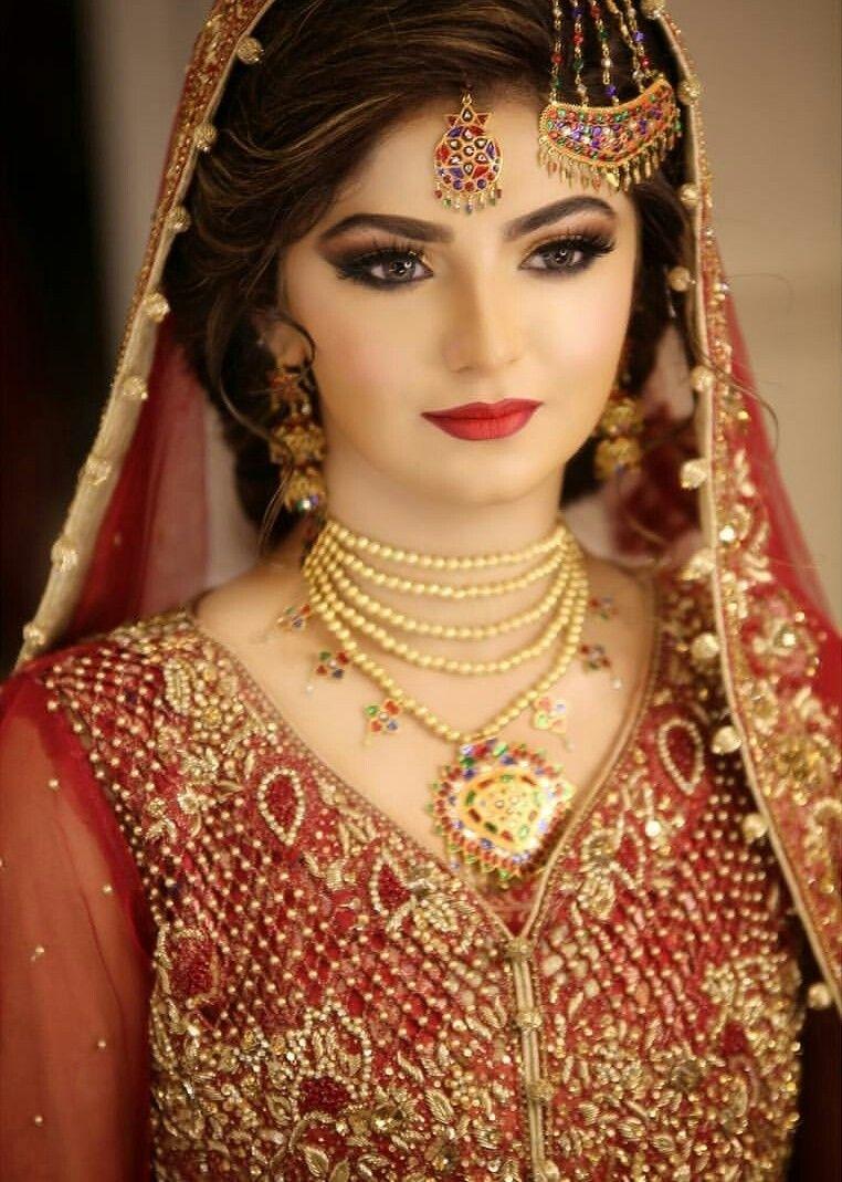 Mashallah   Jewellery   Pakistani Bridal, Bridal, Bride in Pakistani Bridal Makeup Pic