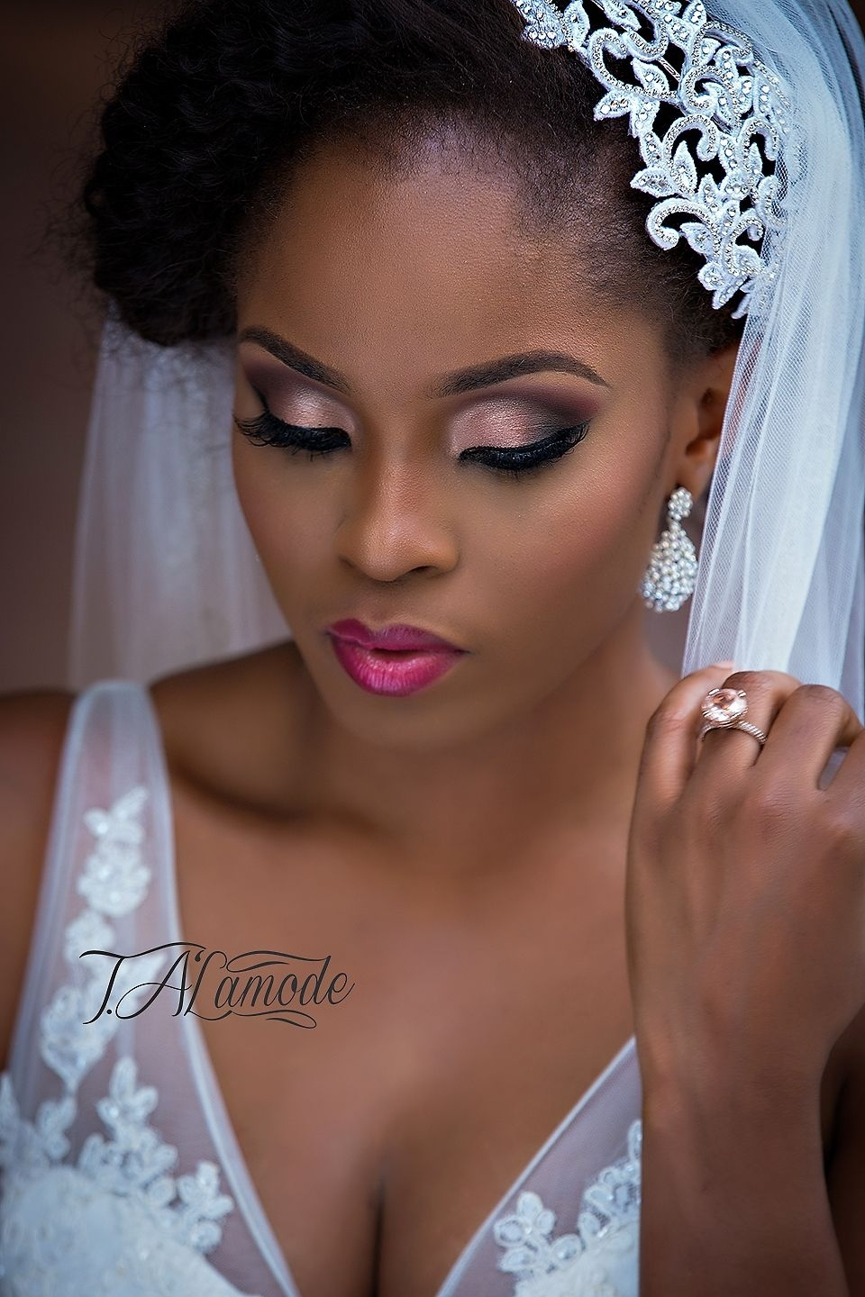 Nigerian Bridal Natural Hair And Makeup Shoot - Black Bride pertaining to Nigerian Bridal Makeup Pictures