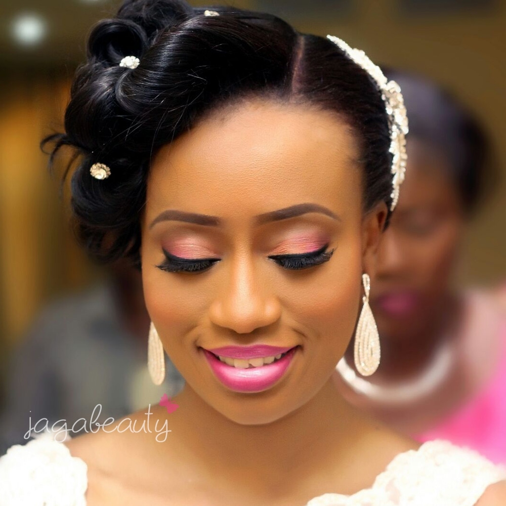 nigeria white wedding makeup pictures - wavy haircut