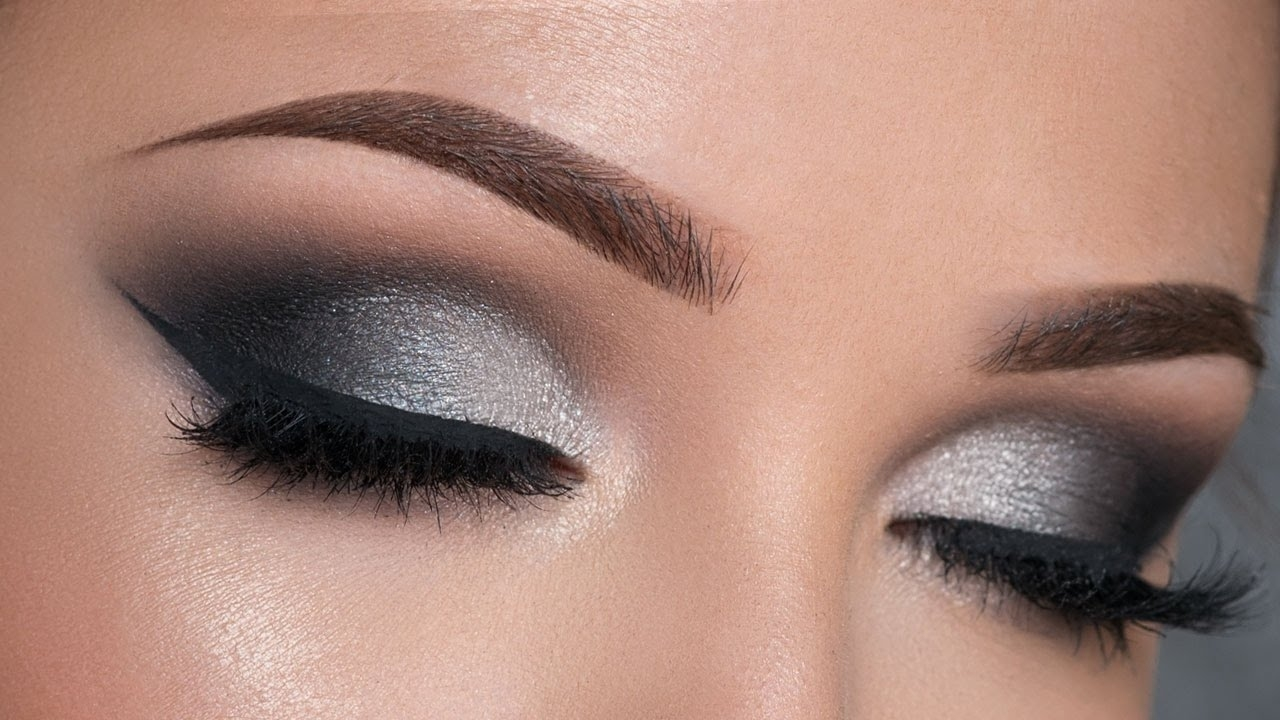 Night Out Makeup Tutorial | Black & Silver Smokey Eye - Youtube for How To Smokey Eye Makeup With Pictures