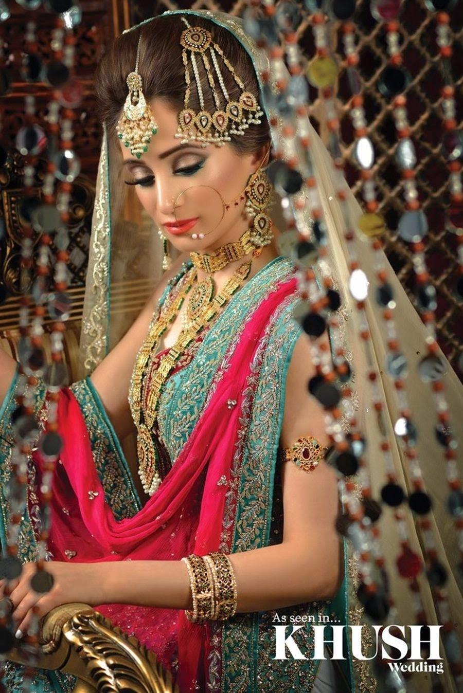 Pakistani Bridal Makeup Pictures 2015 - Latest Bridal Makeover 2015 in Pakistani Bridal Makeup Pictures Facebook